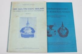 """2 x booklets """"Die Deutschen Helme"""" & """"Deutsche Helmwappen"""""""