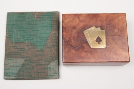 Wehrmacht ID-card camo cover + playing cards case