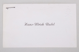 1967 Hans-Ulrich Rudel signed visiting card