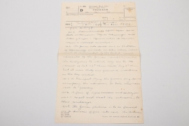 "Imperial Germany - Important telegram to the ""Befehlshaber der U-Boote"" ""Kapitulation 1918"""
