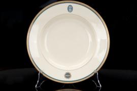 "Deutschen Zeppelin- Reederei - ""WB"" monogram soup plate"