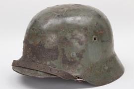 """Heer M35 double decal """"sawdust"""" camo helmet - 1936"""