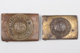 2 x Württemberg & Prussia - EM/NCO buckles