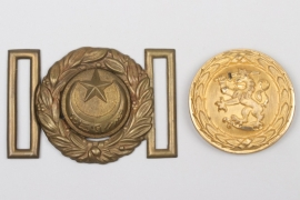 Turkey officer's buckle + unknown officer's buckle