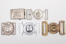 5 x Germany & foreign countries - buckles