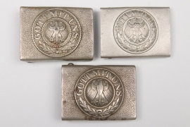 3 x Reichswehr EM/NCO buckles