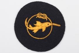 "Kriegsmarine ""Kleinkampfmittel"" cloth badge"