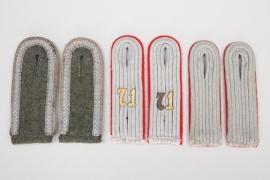 3 x Heer Artillerie & Infanterie shoulder boards