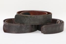 Wehrmacht/NSDAP three EM/NCO belts