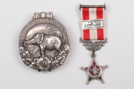 "Colonial ""Elephant"" Badge 1921 & Turkish Gallipoli Star miniature"