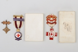 Great Britain - Red Cross badges & St Johns Medal
