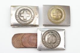 Third Reich German Red Cross EM/NCO buckles - 1st pattern