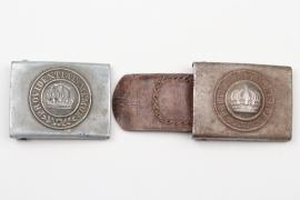 Saxony - 2x WWI field buckles - EM/NCO