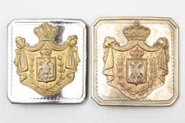 Kingdom of Yugoslavia/Serbia - officers' belt buckles - BSW