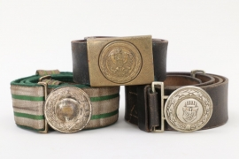 Third Reich & Austria - lot of belts and buckles