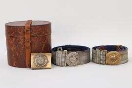 Bavaria - brocade belt & buckle lot