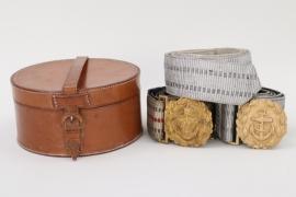Kaiserliche Marine & Kriegsmarine lot of brocade belts & buckles