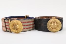 "Hessian officer's belt & buckle + ""Grubenwehr"" belt & buckle"