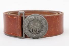 Württemberg - WWI field grey officer's belt and buckle