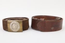 Prussia - EM/NCO buckle & belt + WWI belt