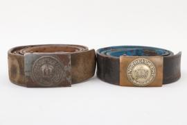 Bavaria - EM/NCO belt and buckle lot