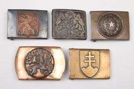 5 x international belt buckles