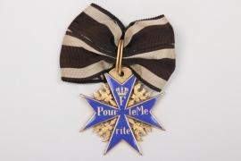 Pour le Mérite with ribbon (1950s type)