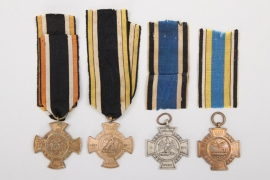 4 x Prussia - commemorative crosses