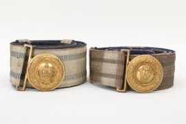 Prussia & Bavaria - officer's dress belt and buckle