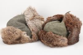Heer/Waffen-SS 2x winter fur caps