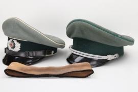Heer Infanterie & Civil servant visor caps