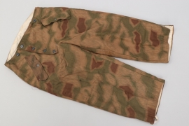 Wehrmacht tan & water reversible winter camo trousers - REITZ, Antwerpen