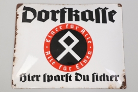 """Dorfkasse"" enamel sign - around 1930"