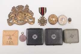 Imperial Germany - lot of badges, cases & helmet plate
