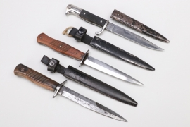 WWI lot of three German trench knives