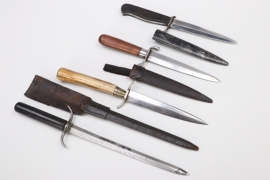 WWI four trench knives