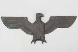 Third Reich important bronze wall eagle - 96.5x38