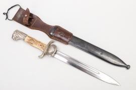 Sweden - lion's head bayonet with leather frog - Mattsson