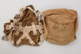 Luftwaffe parachute carrying bag & outer bag with harness