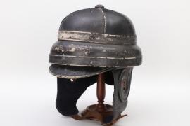 """Imperial Germany - WW1 """"Roold"""" pilot's helmet (Kgl. bay. Fliegertruppe)"""