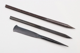 """3 x WWI flechette darts """"Fliegerpfeile"""""""