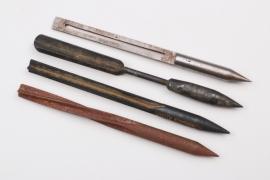 """4 x WWI flechette darts """"Fliegerpfeile"""""""