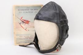 """Great Britain - 1929 """"Lewis"""" flight helmet (Schneider Trophy)"""