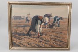 Oil by Albert Bitterlich - Harvest Time