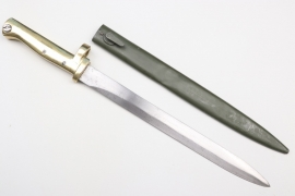 "WWI German Ersatz bayonet ""Notbajonett"" - braas handle"