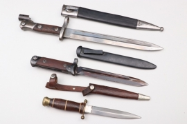 Spain & Italy - bayonets & WWI trench knife