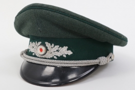 Third Reich forestry official's visor cap