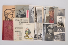 Third Reich mixed lot of postcards, documents, booklets
