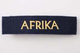 Kriegsmarine AFRIKA cuff title - EM/NCO type
