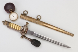 Imperial German Navy officer's dagger with ivory handle - Lüneburg